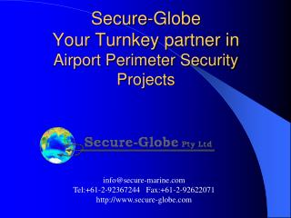 Secure-Globe Your Turnkey partner in Airport Perimeter Security Projects