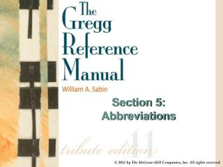 Section 5: Abbreviations