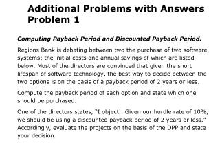 Additional Problems with Answers Problem 1
