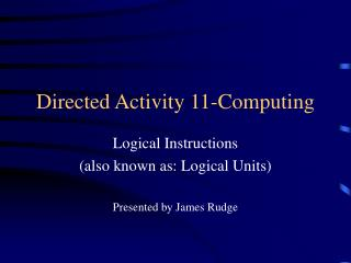 Directed Activity 11-Computing