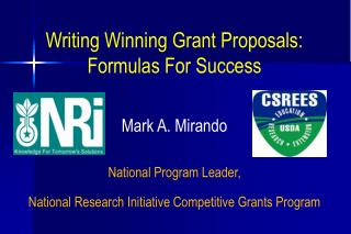 Writing Winning Grant Proposals: Formulas For Success