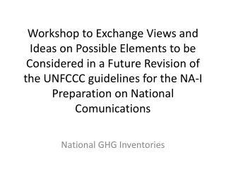 National GHG Inventories