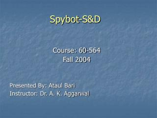 Spybot-S&D