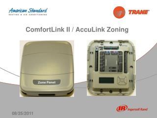 ComfortLink II / AccuLink Zoning