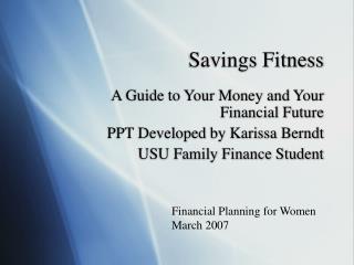 Savings Fitness