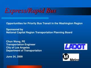 Express/Rapid Bus
