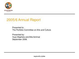 2005/6 Annual Report