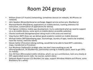 Room 204 group
