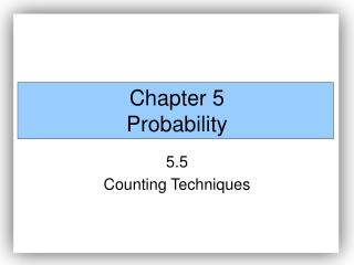 Chapter 5 Probability