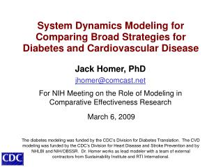System Dynamics Modeling for Comparing Broad Strategies for Diabetes and Cardiovascular Disease