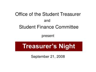 Office of the Student Treasurer