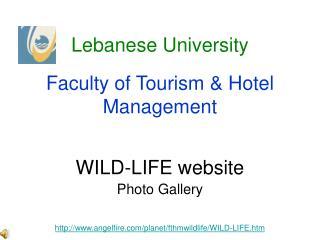 WILD-LIFE website