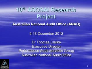 10 th  ASOSAI Research Project