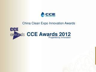 CCE Awards 2012