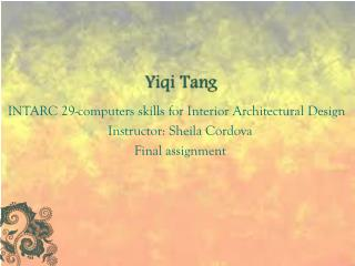 Yiqi  Tang