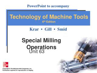 Special Milling Operations
