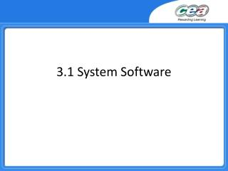 3.1 System Software