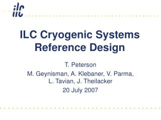 ILC Cryogenic Systems Reference Design