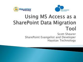 Using MS Access as a SharePoint  Data Migration  Tool