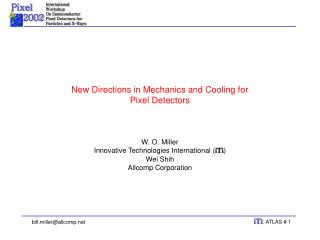 New Directions in Mechanics and Cooling for Pixel Detectors