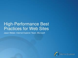 High-Performance Best  Practices for Web Sites