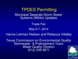TPDES Permitting