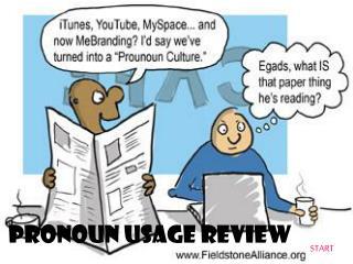 Pronoun usage Review