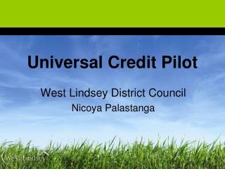 Universal Credit Pilot