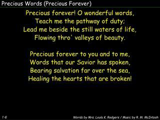 Precious Words (Precious Forever)