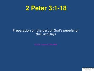 2 Peter 3:1-18