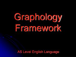 Graphology Framework