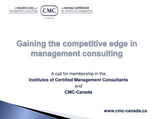 Gaining the competitive edge in management consulting