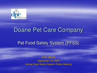 Doane Pet Care Company