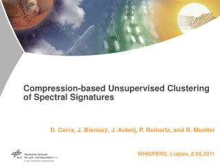 Compression-based Unsupervised Clustering of Spectral Signatures