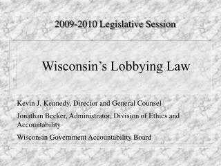 Wisconsin's Lobbying Law