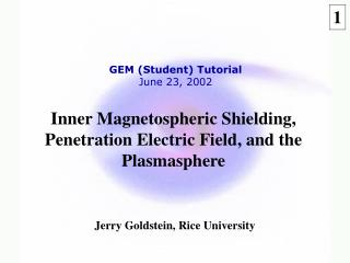 Inner Magnetospheric Shielding, Penetration Electric Field, and the Plasmasphere