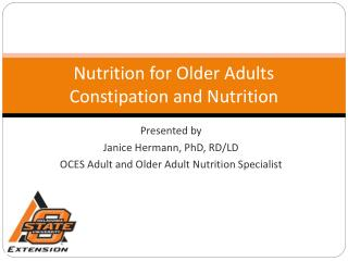 Nutrition for Older Adults Constipation and Nutrition