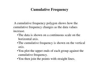 Cumulative Frequency