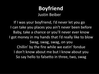 Boyfriend Justin Beiber