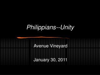 Philippians--Unity