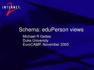 Schema: eduPerson views