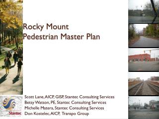 Rocky Mount Pedestrian Master Plan