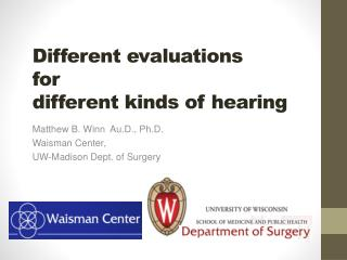 Different evaluations for  different kinds of hearing