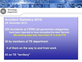 Accident Statistics 2010: (29. November 2010)