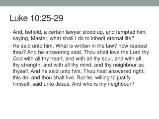 Luke 10:25-29