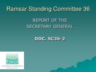 Ramsar Standing Committee 36