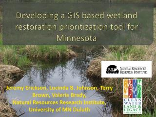 Developing a GIS based wetland restoration prioritization tool for Minnesota