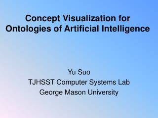 Concept Visualization for Ontologies of Artificial Intelligence