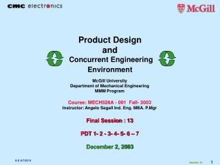 Product Design  and Concurrent Engineering Environment