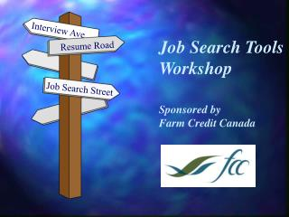 Job Search Tools Workshop